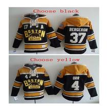 2017 Best Quality Men's #4 Bobby Orr # 37 Patrice Bergeron Hockey Hoodie Sweater