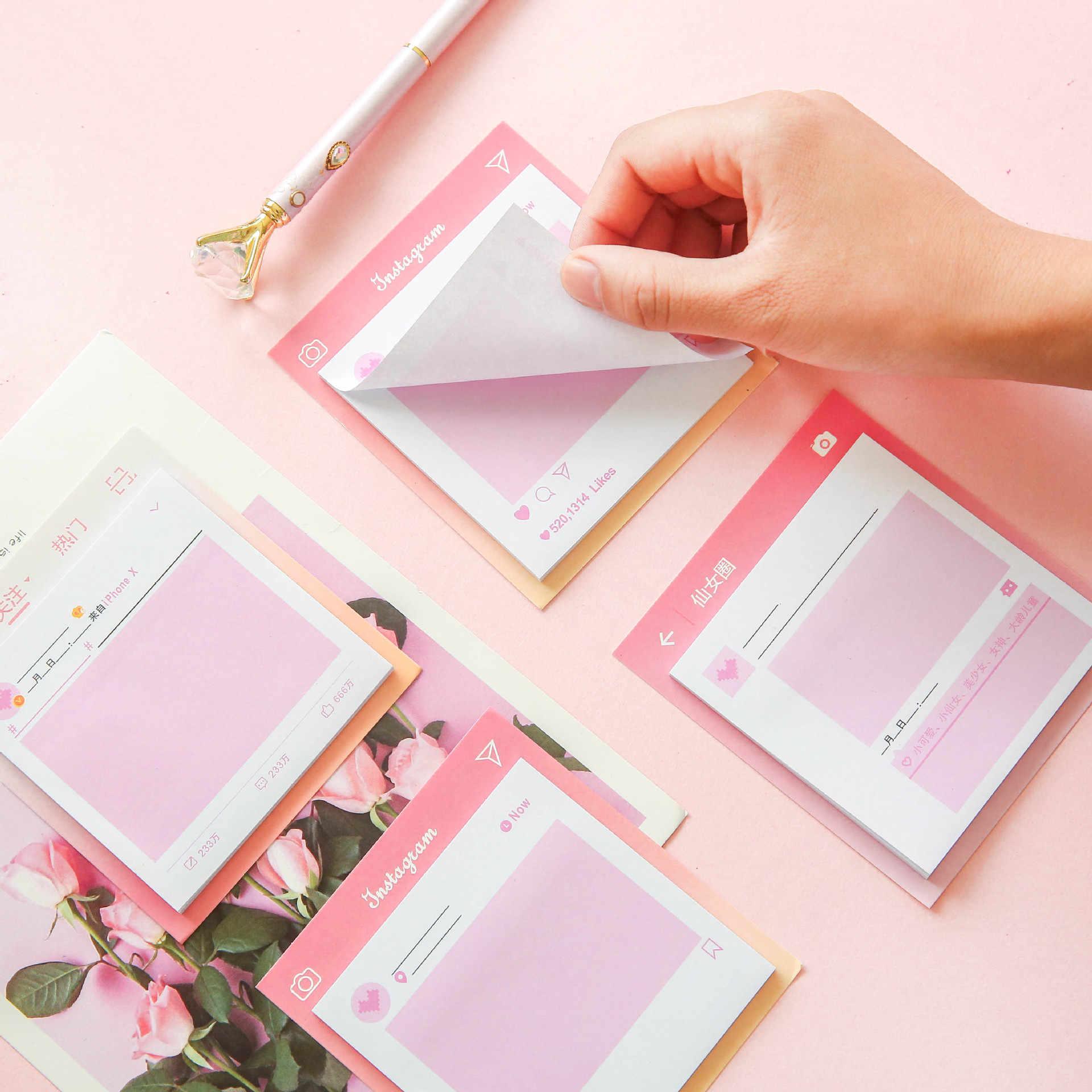 Giapponese rosa belle ragazze in Harahufeng comodo per incollare fata circle of friends N volte può strappare una nota messaggio libro