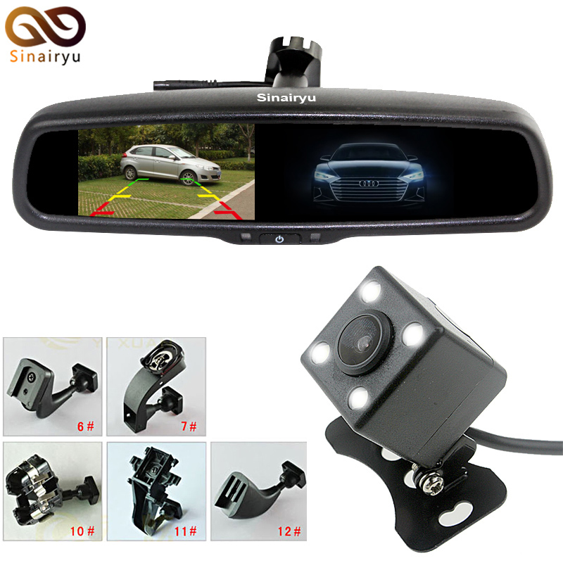 Special Bracket Auto Dimming Interior Mirror 4.3 Inch Car Parking Monitor With Night Vision CCD Rear View Camera car hd video auto parking monitor led night vision reversing ccd car rear view camera with 4 3 inch car rearview mirror monitor