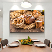 Тема для кухни холст искусство картины декор комнаты хлеб молоко