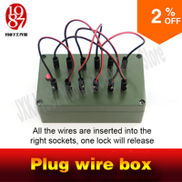 Escape Room Takagism Game Props Plug Wire Box All The Wires Are Inserted Into The Right