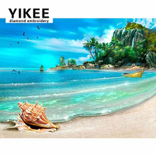 H248 Landscape Beach ,5d diamond painting,diamond painting,full square,landscape,rhinestone painting