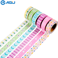 AAGU Box Package New Arrival Washi Tape Set Various Patterns Scrapbooking MaskingTape Set Decorative Paper Tape