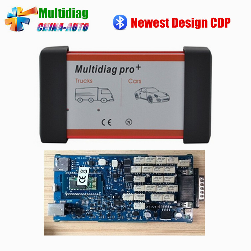 New Design Multidiag pro Single Board PCB TCS PRO 2014.R2 Keygen+Bluetooth TCS PRO + free shipping with bluetooth japen nec relay latest new vci vd tcs cdp pro bt obd2 obdii obd with best pcb chip green single board