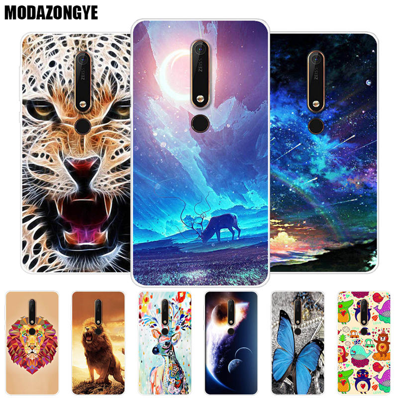 Case <font><b>Nokia</b></font> 6 2018 Phone Case <font><b>Nokia</b></font> <font><b>6.1</b></font> Cover <font><b>Nokia</b></font> 6 2018 TA-1068 TA-1050 TA-1043 TA-1045 Case Silicone Soft <font><b>TPU</b></font> Back Cover 5.5 image
