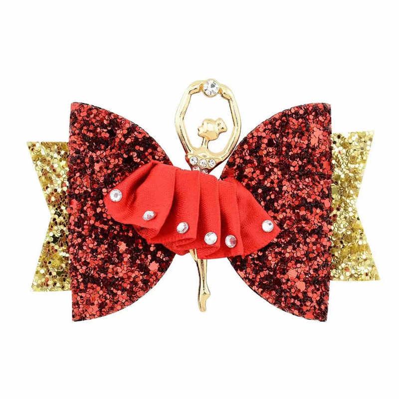 BNWIGE 5 шт. 3,5 дюймов для девочек-подростков повязки для волос с блестками зажимы балетная шпилька для волос ручной работы милые детские резинки для волос подарок аксессуары для волос