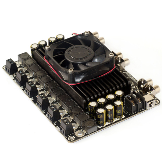 Frete grátis 6X100 W 6 Ohm Classe D Amplificador De Áudio Board-6CH TDA7498 100 W de Potência de alta fidelidade