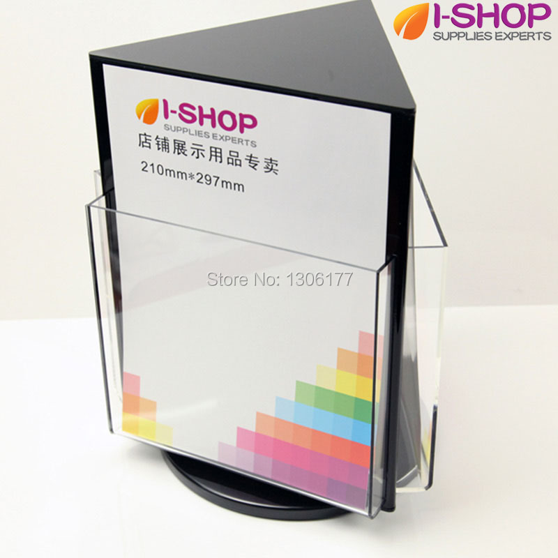 brochure from large magazine rotary htm wired safco display office rack rotating zone