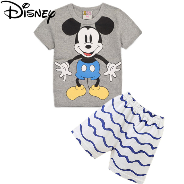 1bff17e6b3dc Disney mickey mouse Summer Clothing Set for Baby Boys Girls Kids ...