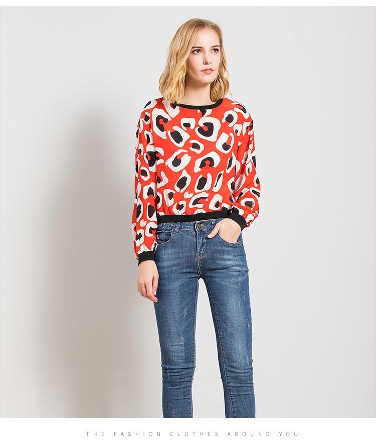 Lose seide T shirt pullover weibliche 2018 neue frühling silk druck große langärmelige T shirt