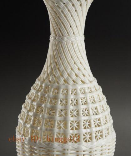 Graži kinų derliaus rankų darbo balta porcelianinė - Namų dekoras - Nuotrauka 4
