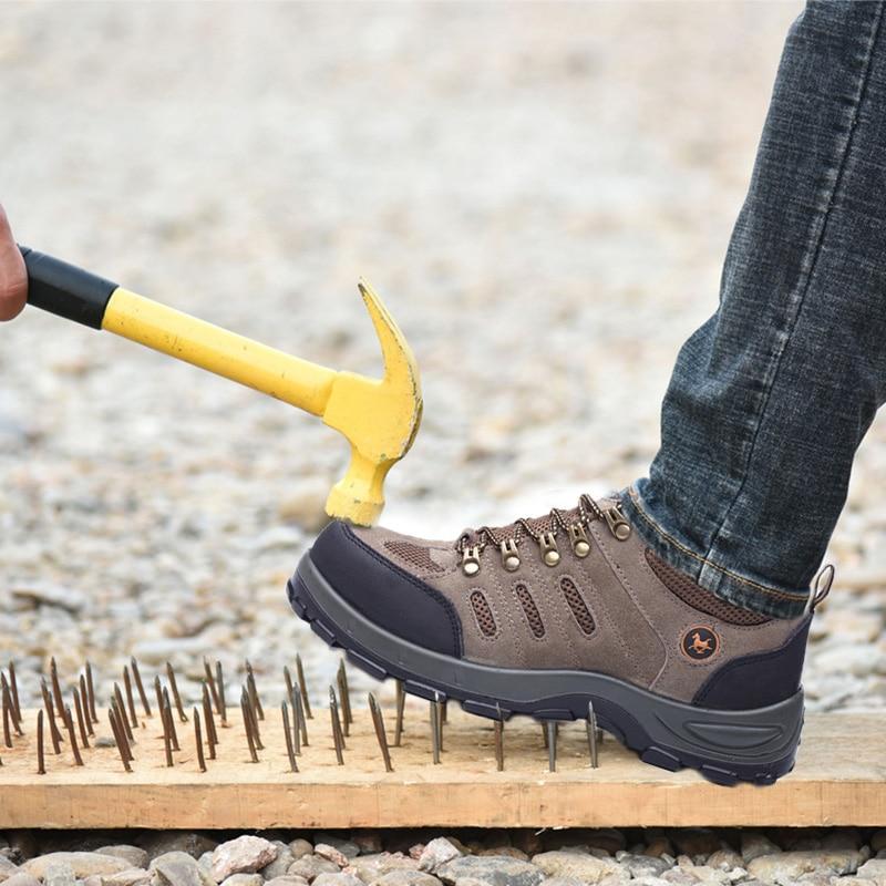 Embout en acier respirant pour hommes chaussures de sécurité de travail pour hommes en plein air anti-dérapant en acier Anti-crevaison bottes de sécurité de protection chaussures