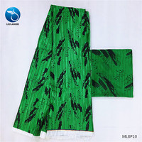 LIULANZHI green prints fabric african wax fabric pleated ankara fabric wax stain and chiffon for dresses ML8P10