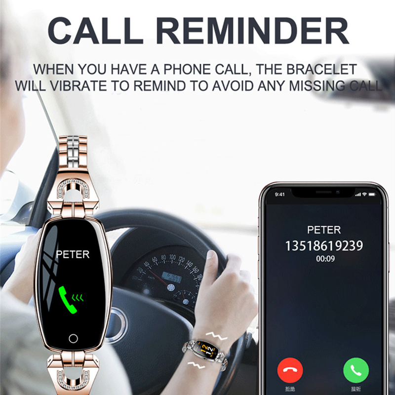Greentiger H8 Smart Bracelet Women Activity Fitness Tracker Heart Rate Monitor Blood Pressure IP67 Waterproof Smart Greentiger H8 Smart Bracelet Women Activity Fitness Tracker Heart Rate Monitor Blood Pressure IP67 Waterproof Smart Wristband