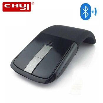 CHYI Bluetooth складная беспроводная мышь Складная дуга сенсорная мышь 1200 dpi оптический компьютер Bluetooth Mause для microsoft PC ноутбук >> Professional Tech Store
