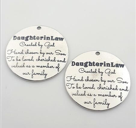 High Quality 20 Pieces/Lot Diameter 25mm Letter Printed Daughter