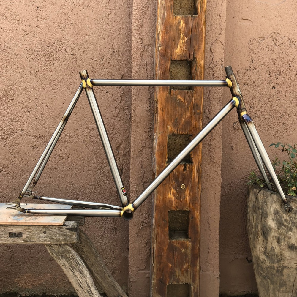 fixed gear <font><b>Bike</b></font> <font><b>frame</b></font> 4130 Chrome molybdenum <font><b>steel</b></font> Copper plated <font><b>frame</b></font> DIY size 46cm 48cm 50 cm 52 cm 56cm 58cm 60cm 62cm image