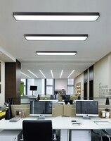 Офисная светодио дный Люстра Светодиодная подвесная линия прямоугольная освещение конференц зала Современная студия простая полоса офисн