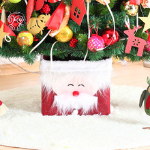 flax christmas tree storage boxchristmas tree skirt personality santa claus decorative base - Christmas Tree Storage Boxes