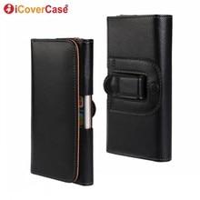 For Xiaomi Mi A2 6X Belt Clip Case Lite Universal Leather Pouch Bag mi A1 5X Men Waist Holster Cover Coque Capa
