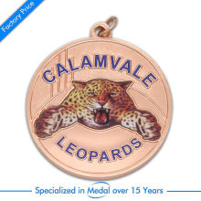 cheap Customized Zinc Alloy Medal high quality China Custom Award Souvenir Medallion with Printed Paster