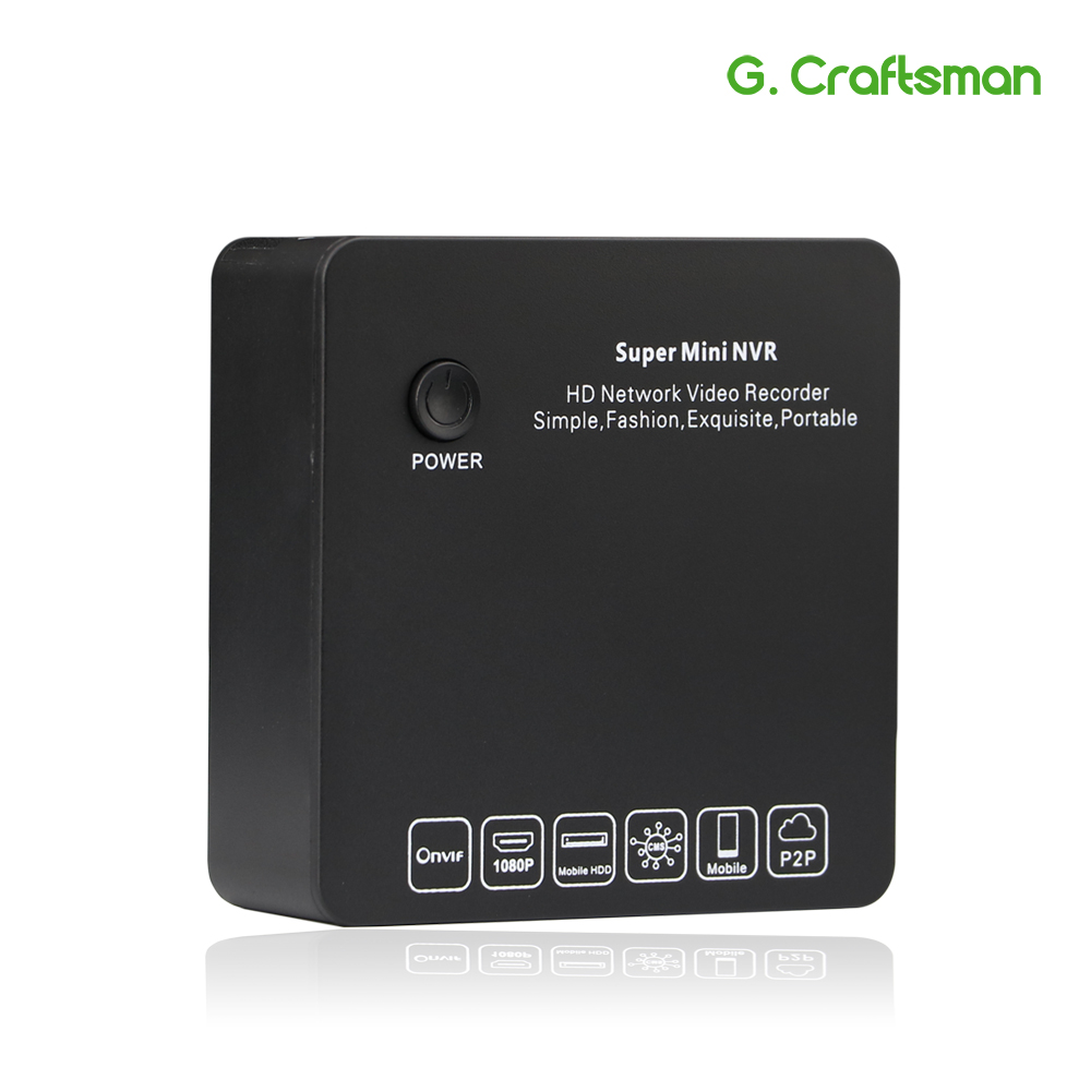 G Ccraftsman 9ch 2MP H 265 NVR Super Mini Size Network Video Recorder 8ch 1080P E