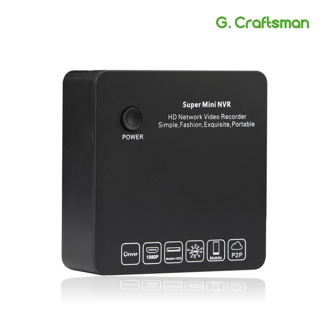 G.Ccraftsman 9ch 2MP H.265 NVR Super Mini Size Network Video Recorder 8ch 1080P E SATA Recording IP Camera Onvif P2P Security