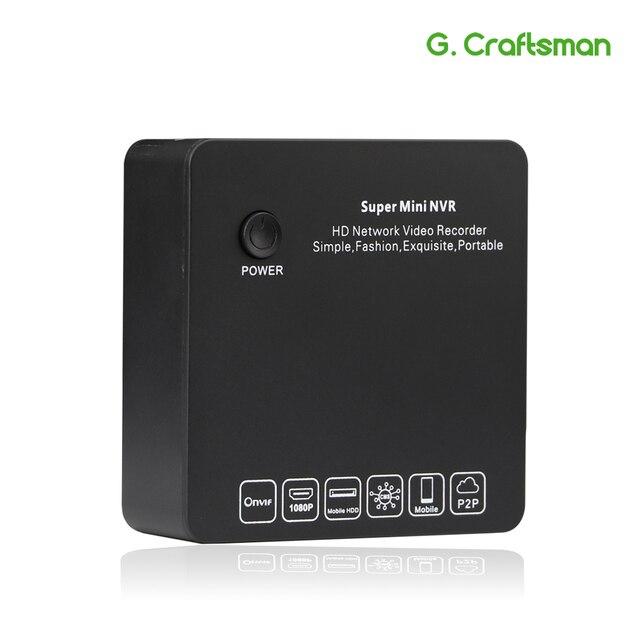 G. ccraftsman 9ch 2MP H.265 NVR סופר מיני גודל רשת וידאו מקליט 8ch 1080 P E SATA הקלטת IP המצלמה Onvif P2P אבטחה