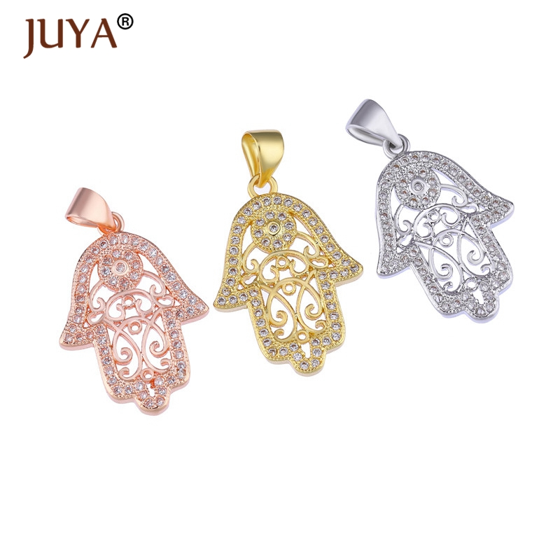 Hamsa Charms Hand Of Fatima Pendants For Jewelry Making Diy Bracelets Necklaces Bedels Voor Sieraden Maken