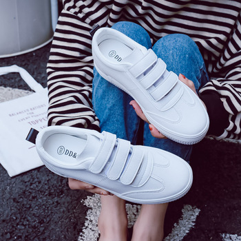 Women's Sneakers New Fashion Shoes Woman Solid Color Casual High Platform Increased PU Leather Women Casual White Sneakers 2