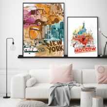 Abstract Nordic Freedom Goddess Rome Building Canvas Painting Print Pictures Poster Art Wall Home Modern Decoration