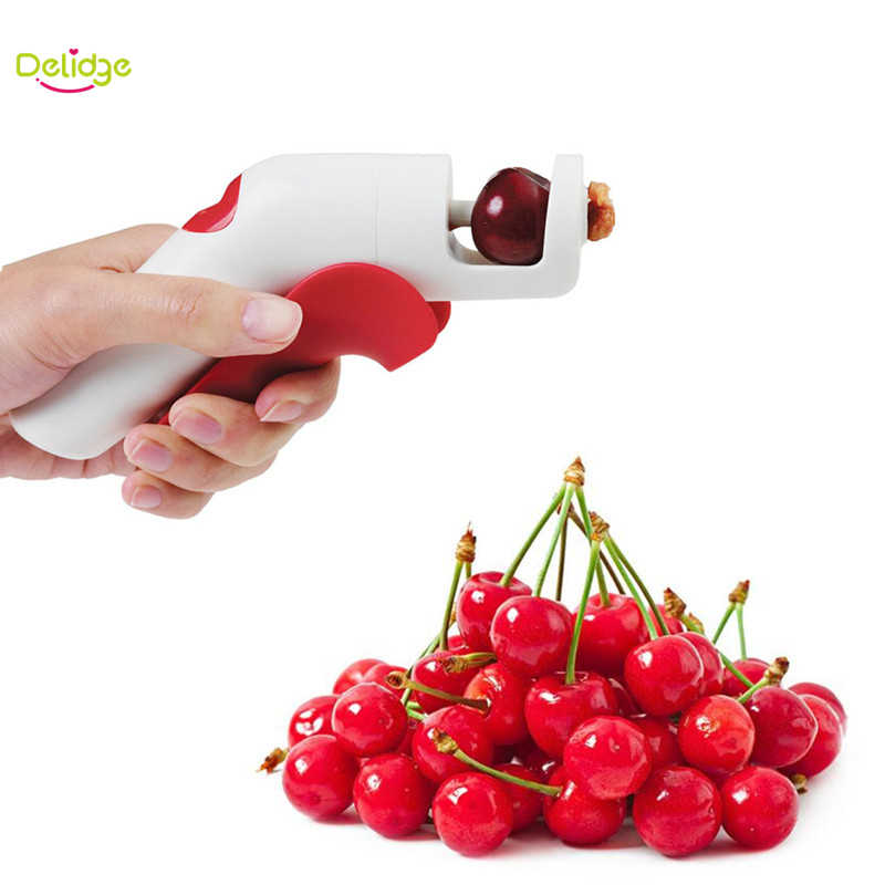 Delidge 1 pc Creative Cherries Pitters Plastic Fruits Tools Fast Remove Cherry Seed Removers Enucleate Keep Complete