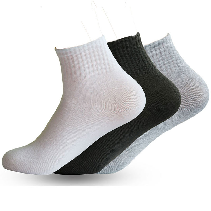 3/5/6Pairs Women Socks Unisex Breathable Socks Solid Color Ankle Sock Comfortable Cotton Short Socks Black White Gray Calcetines