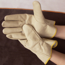 Free transport 3pairs real cow cut up leather-based welding security gloves and for labor and driving as nicely with nice wear-resista