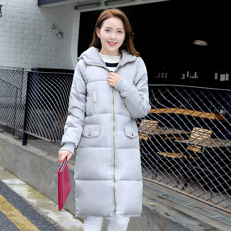 ФОТО MEBOSYA Loose Winter Jacket Women Casual 2016 Plus Size Coat Hooded Button Thick Womens Parka Coats Wadded Jacket Female