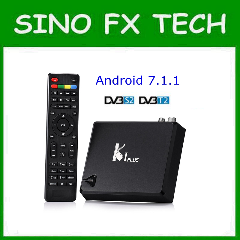 MECOOL KI PLUS android 1G/8G T2 &S2 Amlogic S905D Quad core 64-bit 4K Android 7.1 K1 plus DVB TV Box mx plus amlogic s905 smart tv box 4k android 5 1 1 quad core 1g 8g wifi dlna потокового tv box