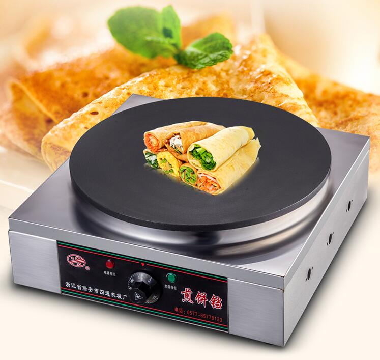 Desktop Pancake Maker Electric Automatic Grain Frying Machine Thermostat Stainless Steel Frying Pan