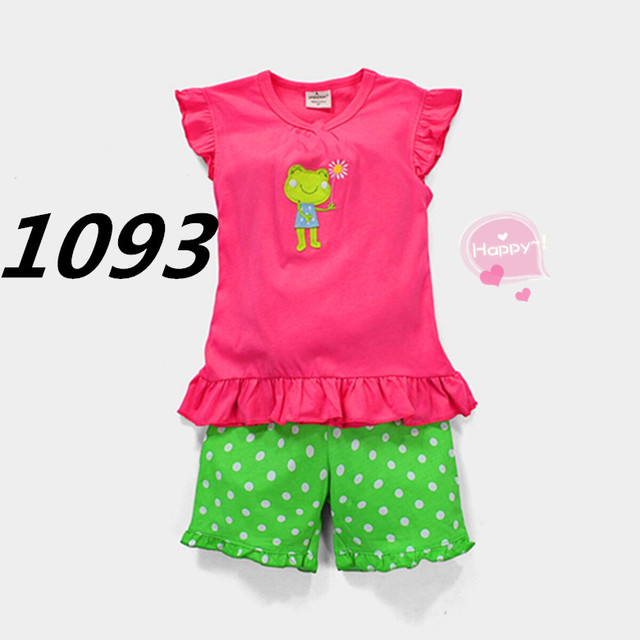 95b964121c115 الأخضر نقطة الصيف الاطفال ملابس الطفل الفتيان الفتيات ملابس قصيرة الأكمام  زي منامة أطفال القطن باس