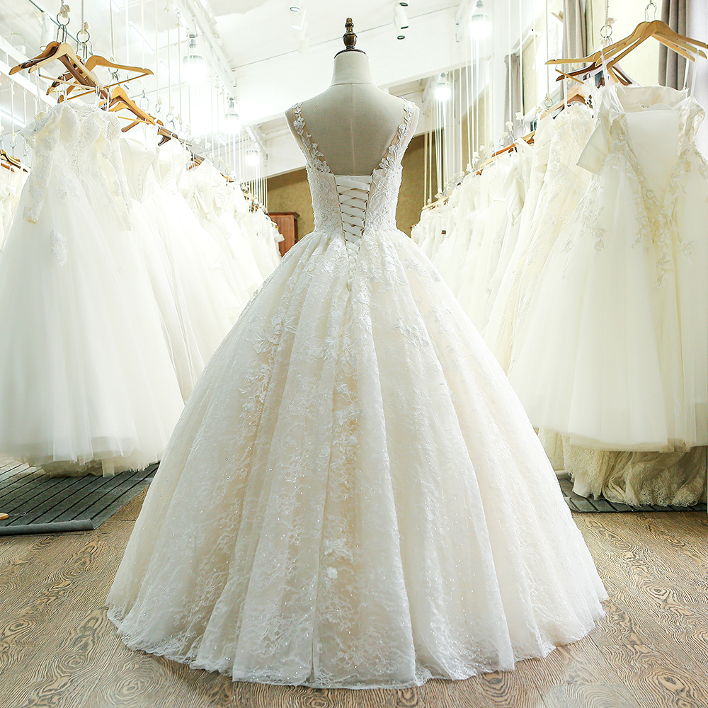 Image 2 - SL 221 New Arrival Sweetheart Neck Lace Wedding Dress 2017lace wedding dresswedding dresswedding dress 2017 -