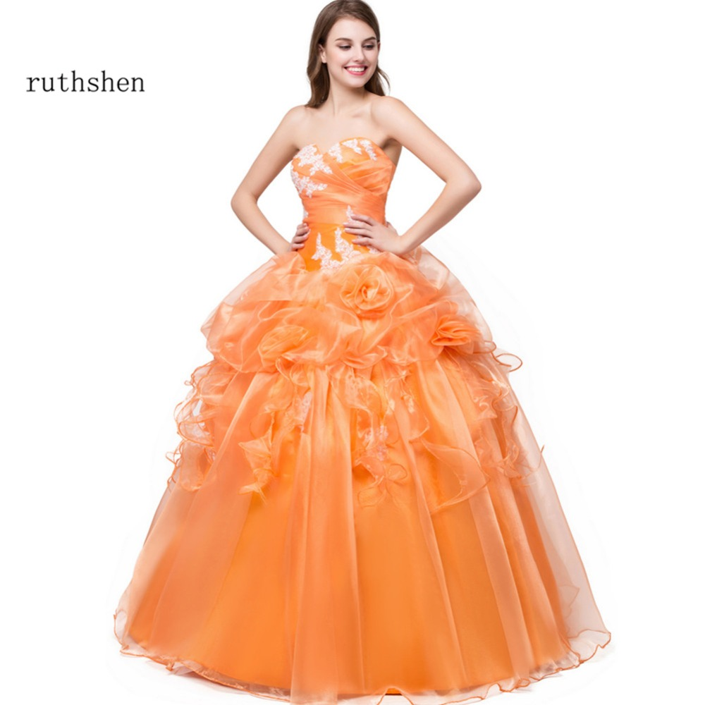 Us 4895 11 Offruthshen Vestidos 15 Anos Quinceanera 2018 Sweet 16 Dresses Sweetheart Appliques Ruffles 100 Real Photo Cheap Quinceanera Gowns In