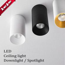 Montaj yüzeyi fuaye/balkon/koridor/yatak odası/restoran kısılabilir 7W 10W silindir Spot LED tavan işık 8*15cm