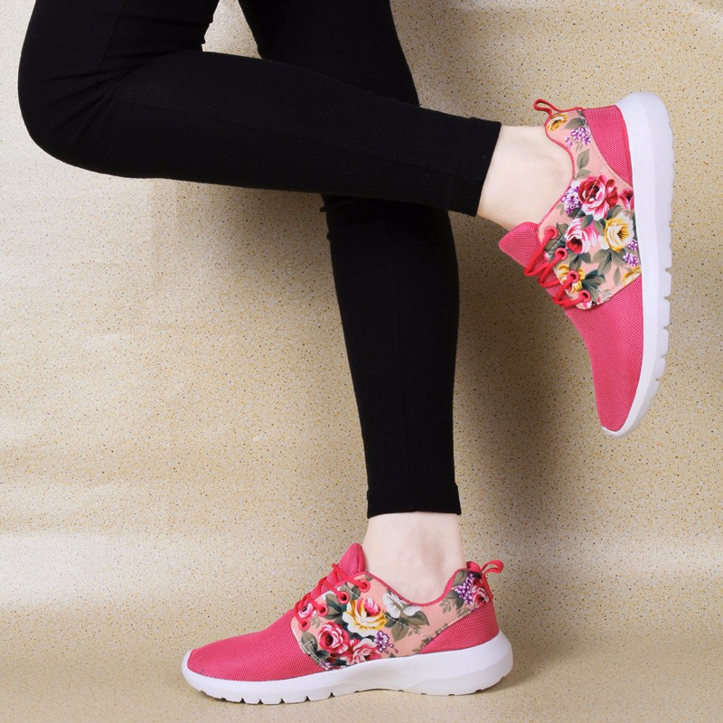 KUYUPP Fashion Breathable Print Flower Women Trainers Casual Shoes 2016 Summer Mesh Low Top Shoes Zapatillas Deportivas YD95 (28)