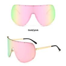 d51ed3bf47b Shield Sunglasses Women Men Polarized Black Oversized Glasses 2018 Sun  Glasses Women Ladies Mirror Eyewear For