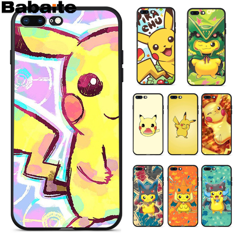 Babaite Pokemons Pocket Monsters Thepikachu Coque Popular Cell Phone Case Cover for iPhone 8 7 6 6S Plus 5 5S SE XR X XS MAX mobile phone
