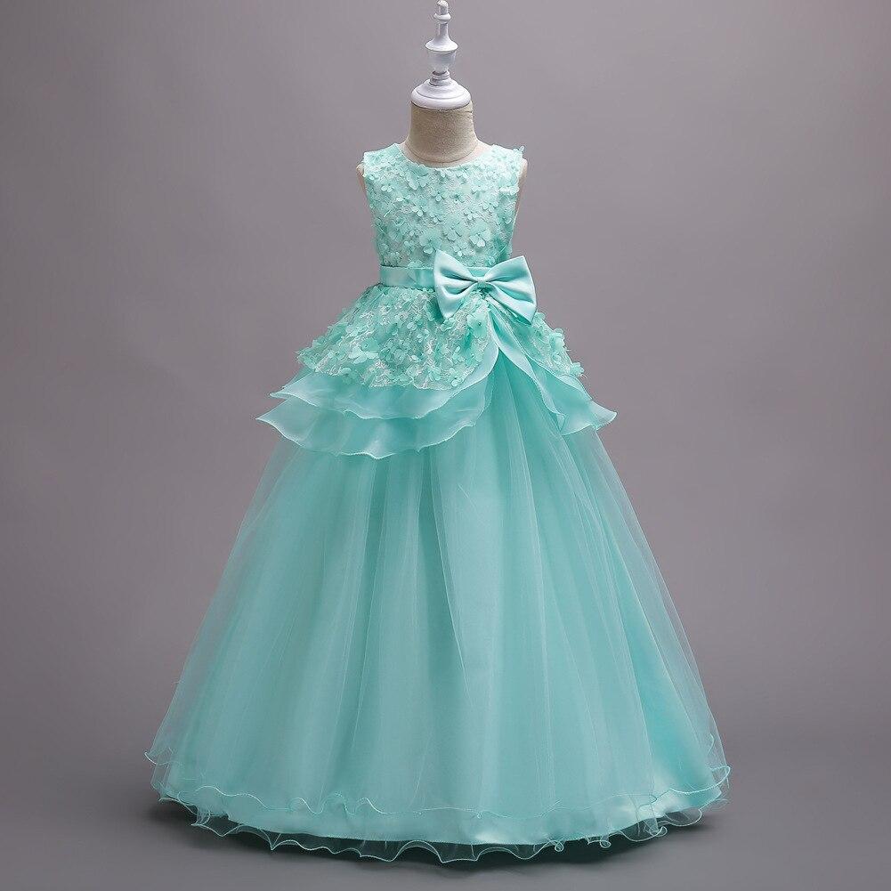 Robes de mariée de fête robes de bal filles Tutu robe pour 4-16 ans carnaval Costumes pour enfants appareils fleur Boutique vêtements