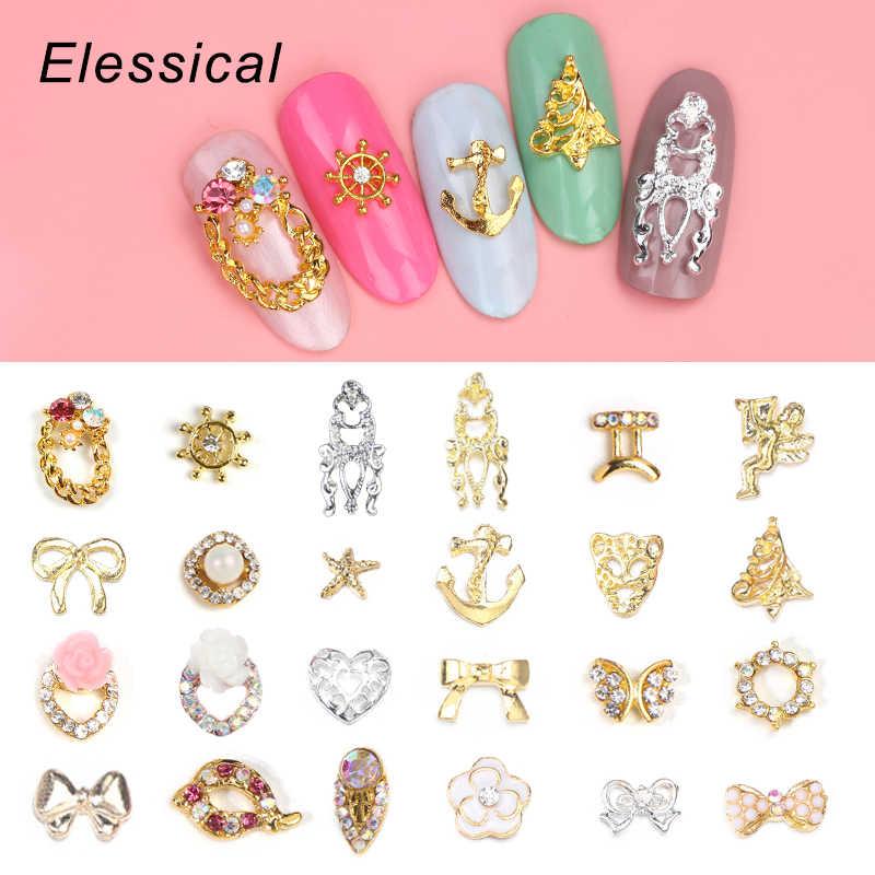 Detail Feedback Questions about ELESSICAL 10pcs Golden 3D Nail Art ...