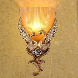 Europejskie kinkiety salon tło pokoju osobowość twórcza lampka nocna do sypialni schody korytarz łabędź sala weselna LU810228
