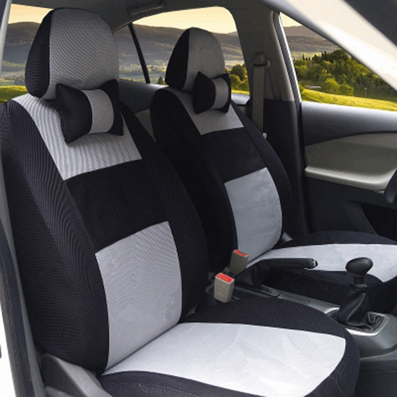 (front & back) 2017 New Universal car seat <font><b>cover</b></font> For Skoda octavia 2 a5 a7 rapid fabia car-styling sandwich Free Shipping