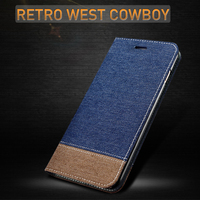 XOOMZ Livre style design Flip stand back cover Cas pour apple iphone 7/7 plus Ultra-Mince Cowboy Tissu Folio Cas avec carte slot