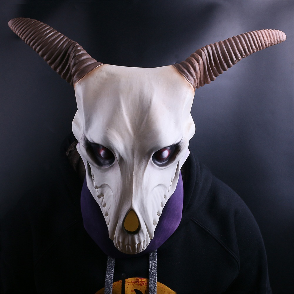 Anime Les Anciens Magus' Mariée Elias Ainsworth Cosplay Latex Masque Prop Halloween Masques